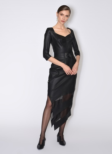 Tuba Ergin Elbise Siyah